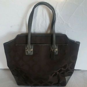 COACH Taylor Op Art Signature North South Tote
